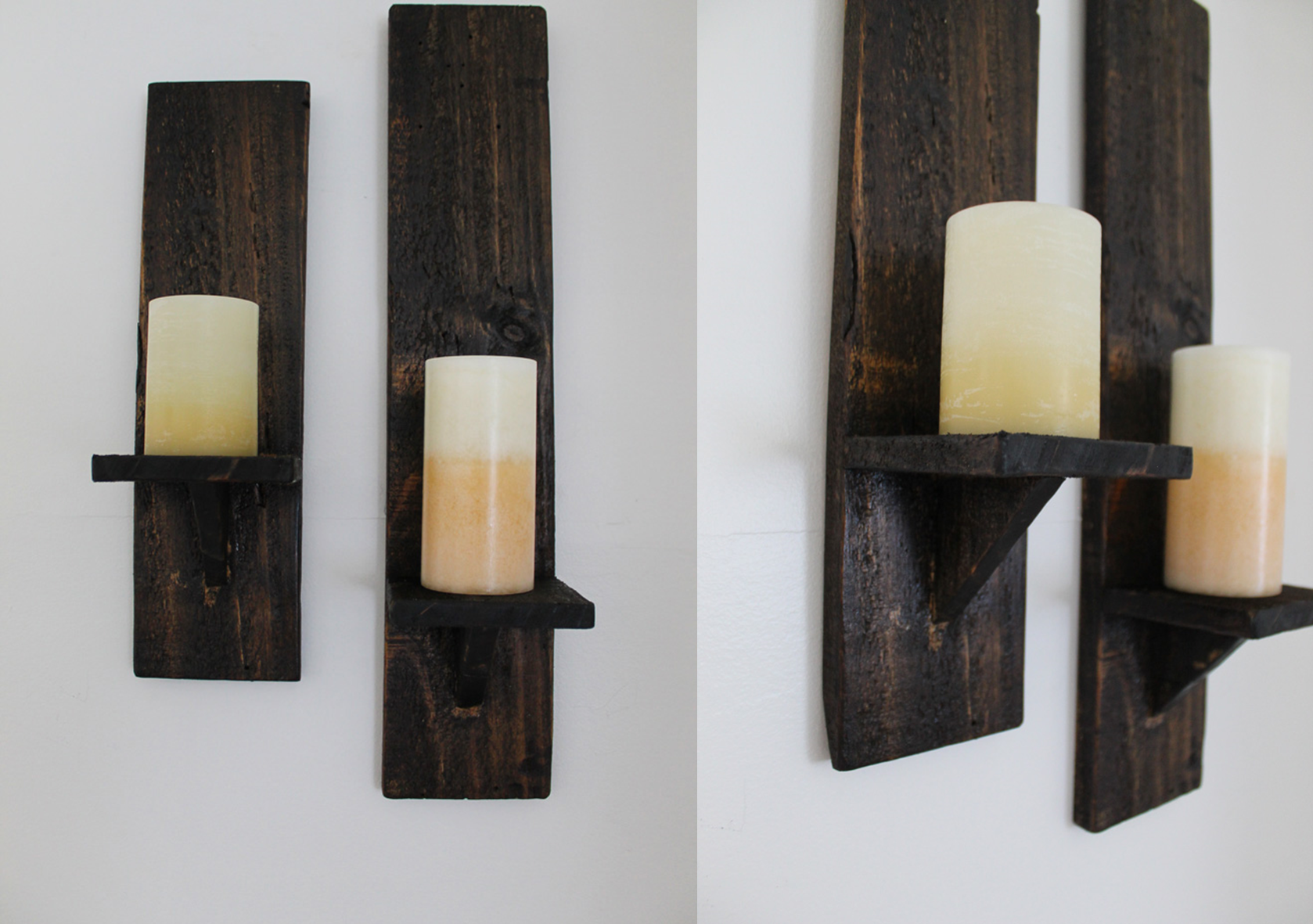 candle sconce cover & Pallet Candle Sconces | The DIY Life