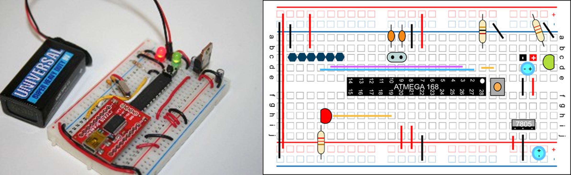 Build Your Own Arduino On A Breadboard The Diy Life 3 Way Switch Make