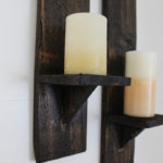 pallet wood candle sconce
