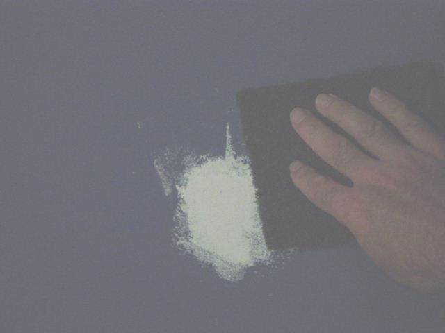 sanding drywall patch