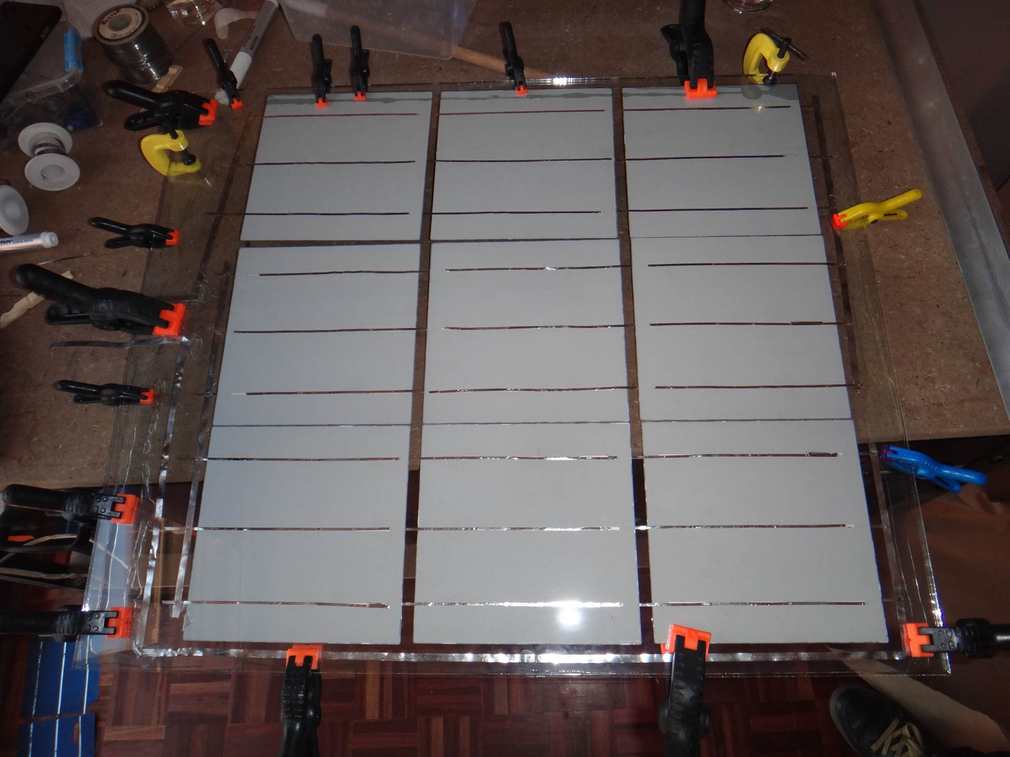 clamped glass