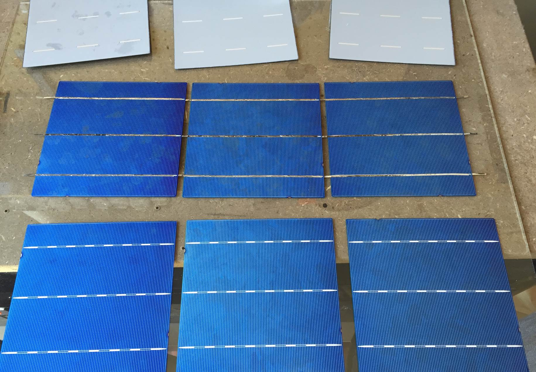 tabbed solar cells