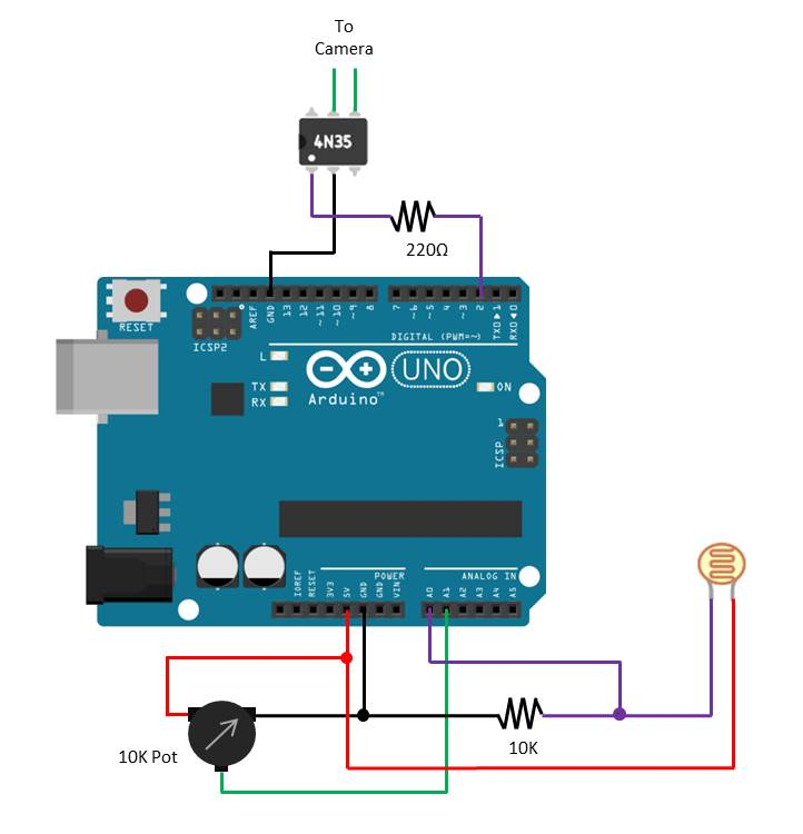 Arduino Lightning Trigger Pot Adaptation
