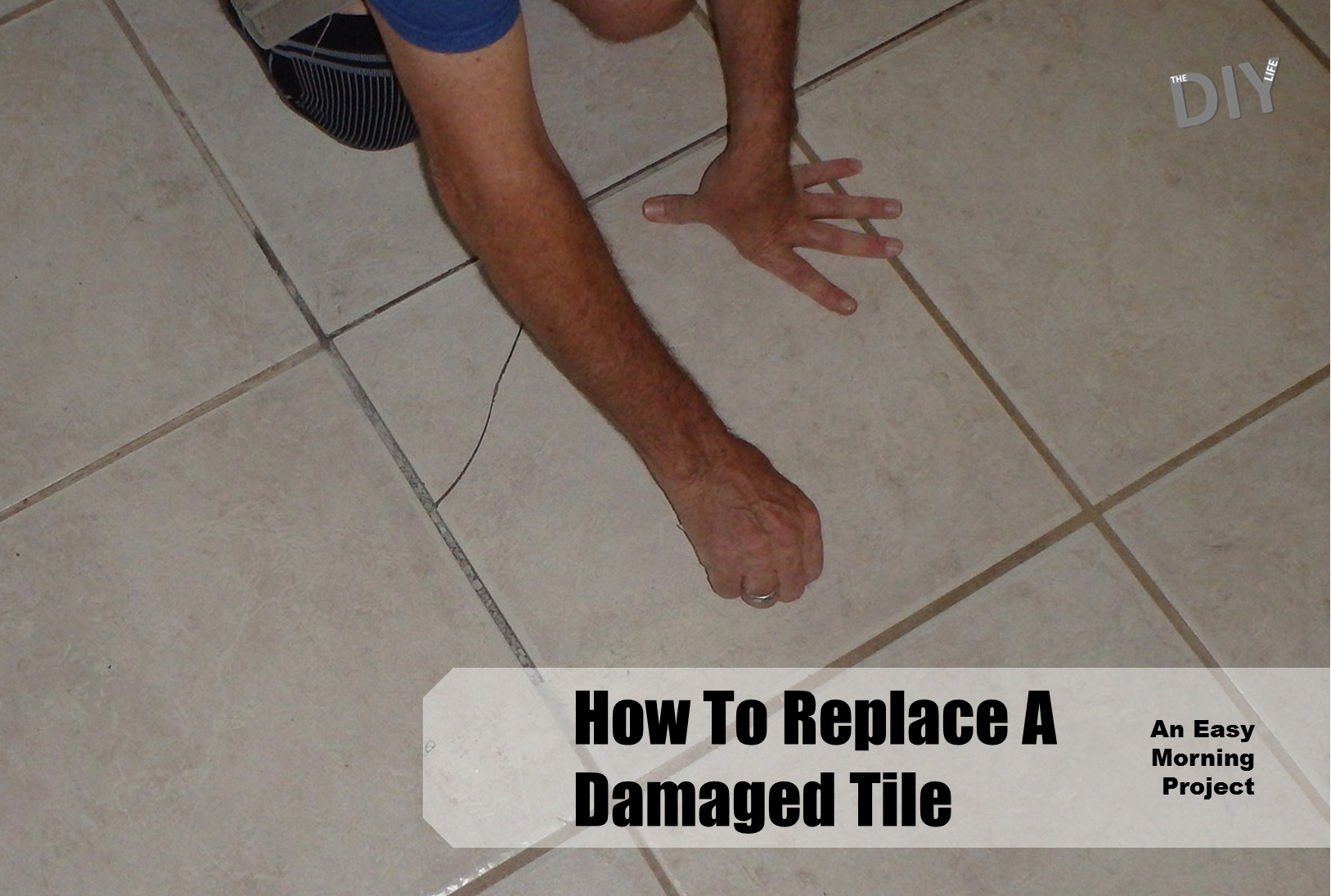 replace a damaged tile pinterest