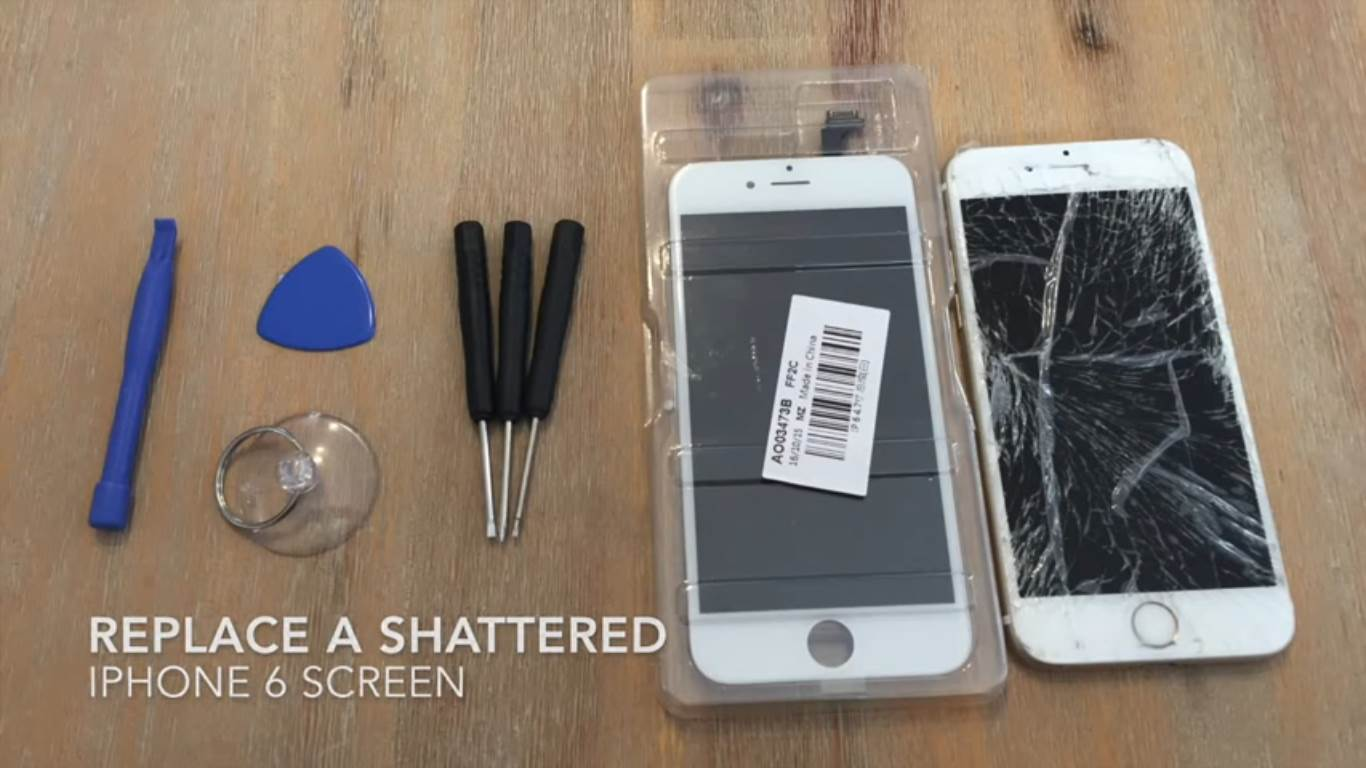 replace screen iphone 6 how to replace a shattered screen on iphone 6 6s 7 the 15998