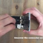 unscrew the connector cover plate