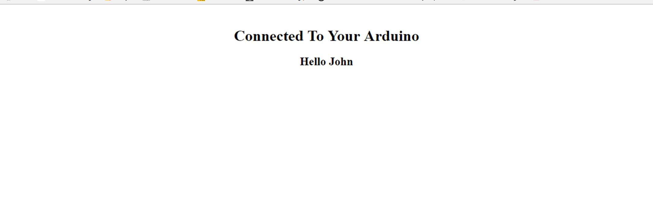 arduino served web page