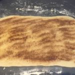 cinnamon ans sugar rolled out dough