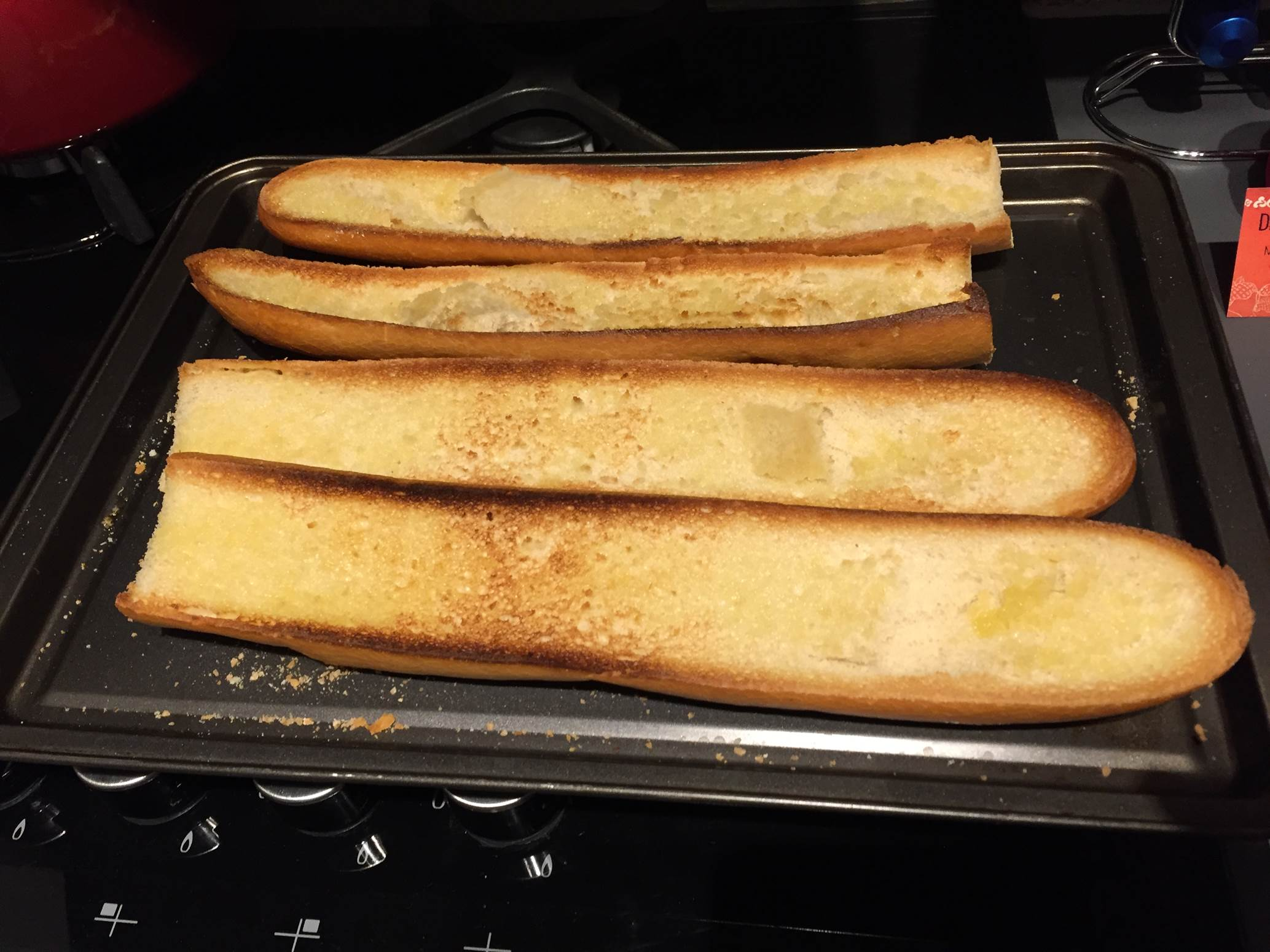 french bread pizza grilled