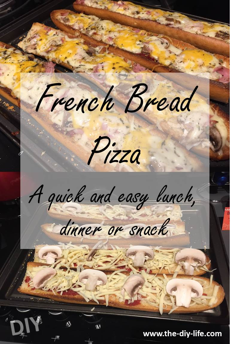 French bread pizza recipe, a quick and easy lunch, dinner or snack