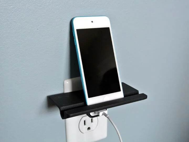 wall power outlet charging shelf