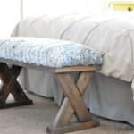 2×4 bed end bench