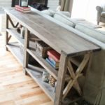 2×4 rustic lounge console