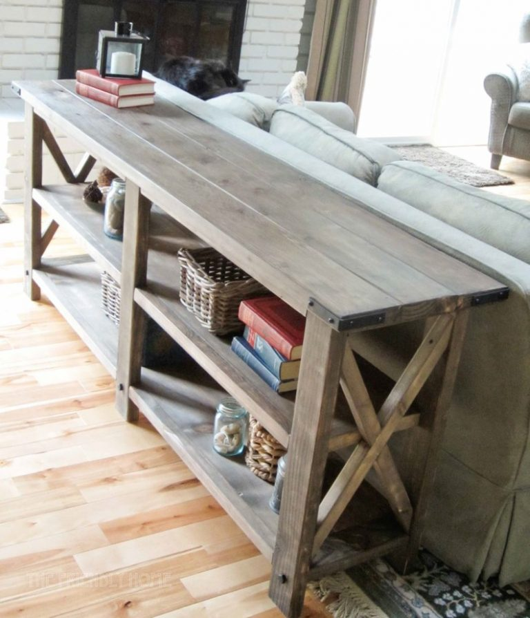 2x4 rustic lounge console