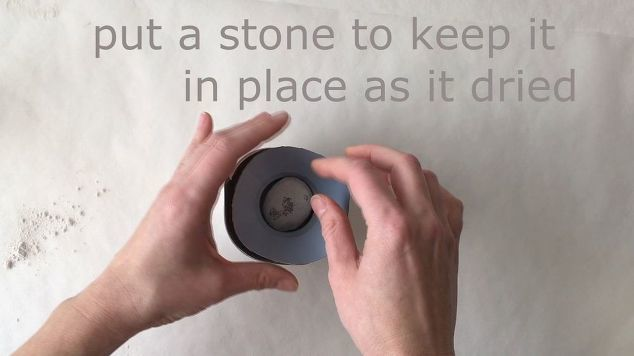 add a stone weight to keep the insert in place