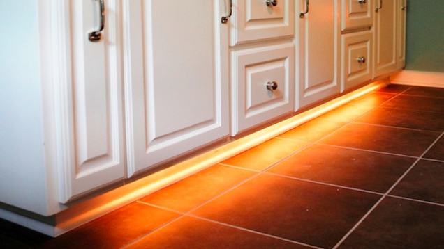add led strip lights under your cabinets