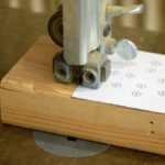 cut the block with a band saw