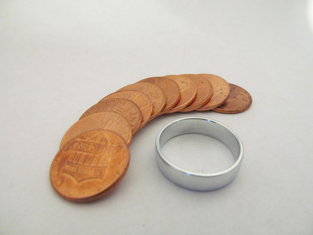 make a ring by melting pennies 2