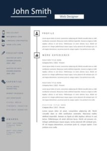 professional-blue-resume-template-sample