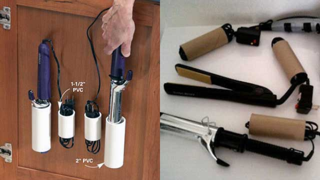 pvc pipes to keep cords together
