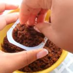 crumbled chocolate cake onto the pudding cup