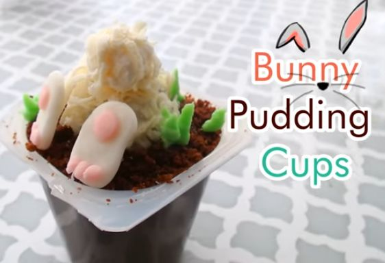 cute bunny pudding cups for easter