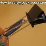 how to pack a razor