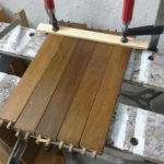 clean up all joints with the sander