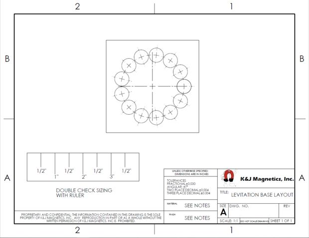 magnet layout drawing