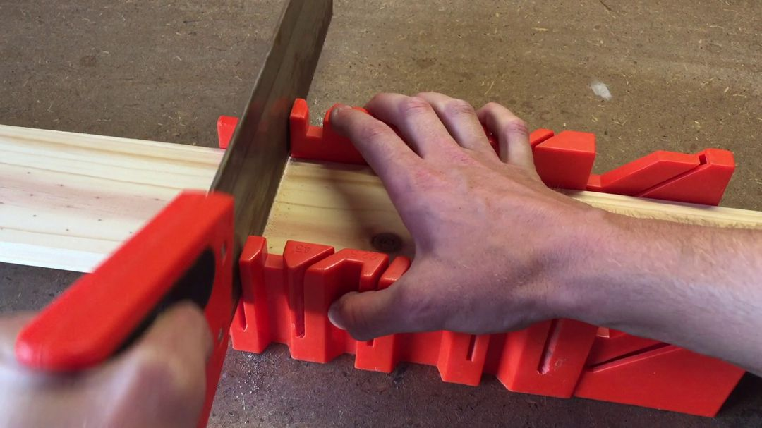 Cut The Wood With A Miter Box