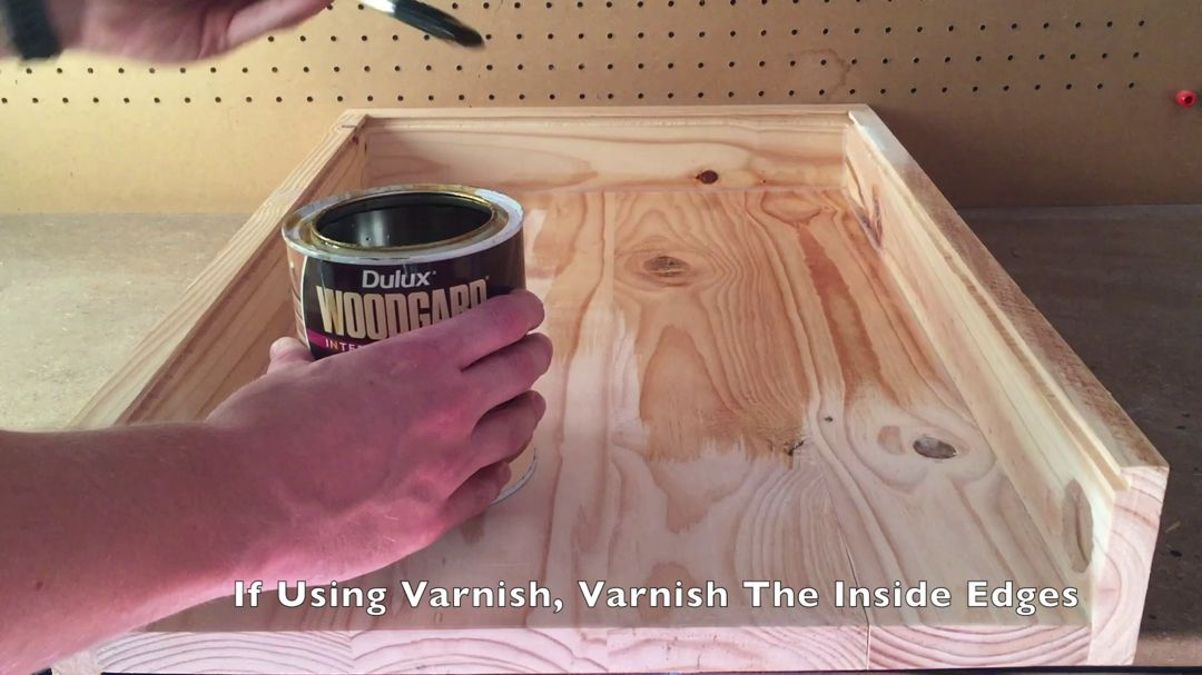 Varnish The Inside Edges And Back Of Your Box