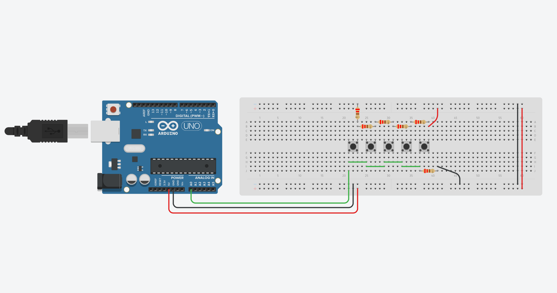 Buttons On One Arduino Input