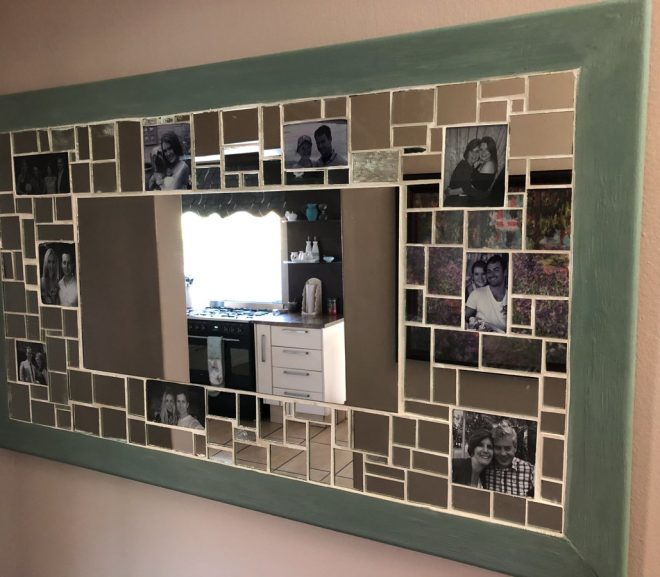 Make A Mosaic Mirror Picture Frame