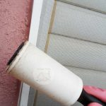 Clean window screens with a lint roller