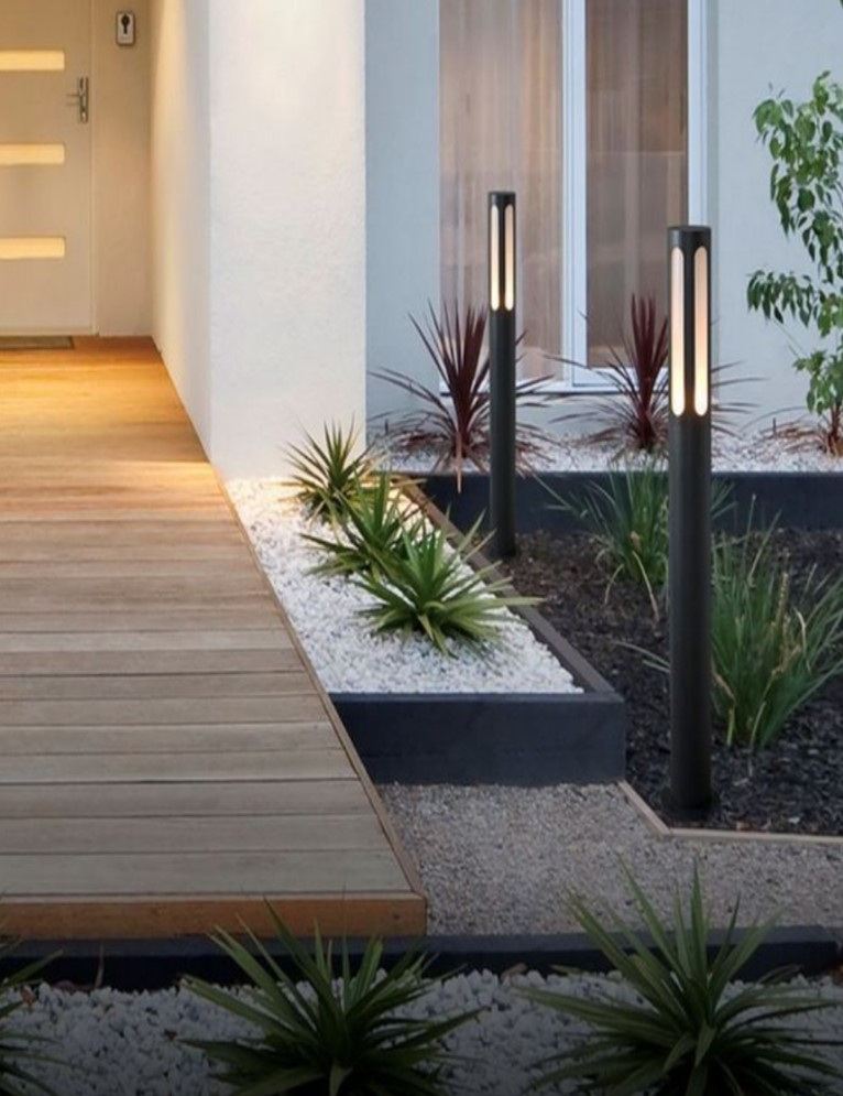 Make use of outdoor lighting for your home's entrance