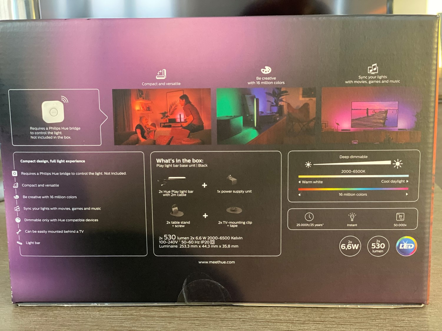 Philips Hue Play Light Bars Back Of Box