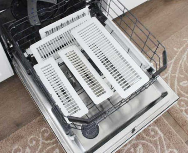 Use your dishwasher to clean air vents