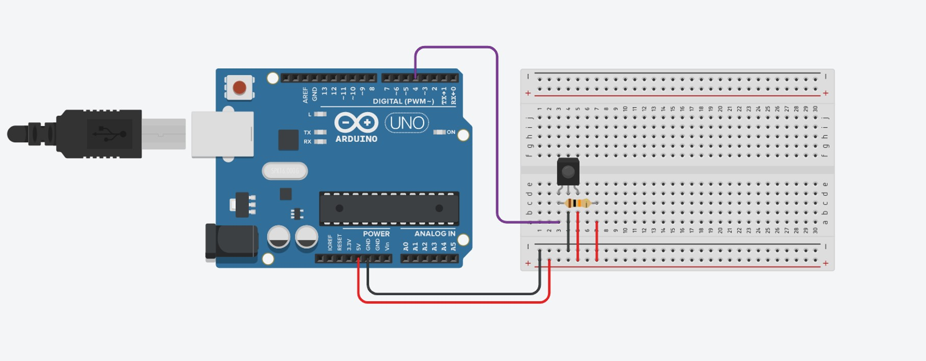 Infrared Sensor Connected To Arduino