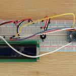 LCD Assembled On Breadboard