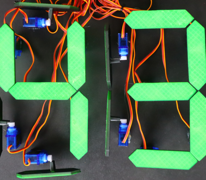 Mechanical 7 Segment Display Using An Arduino