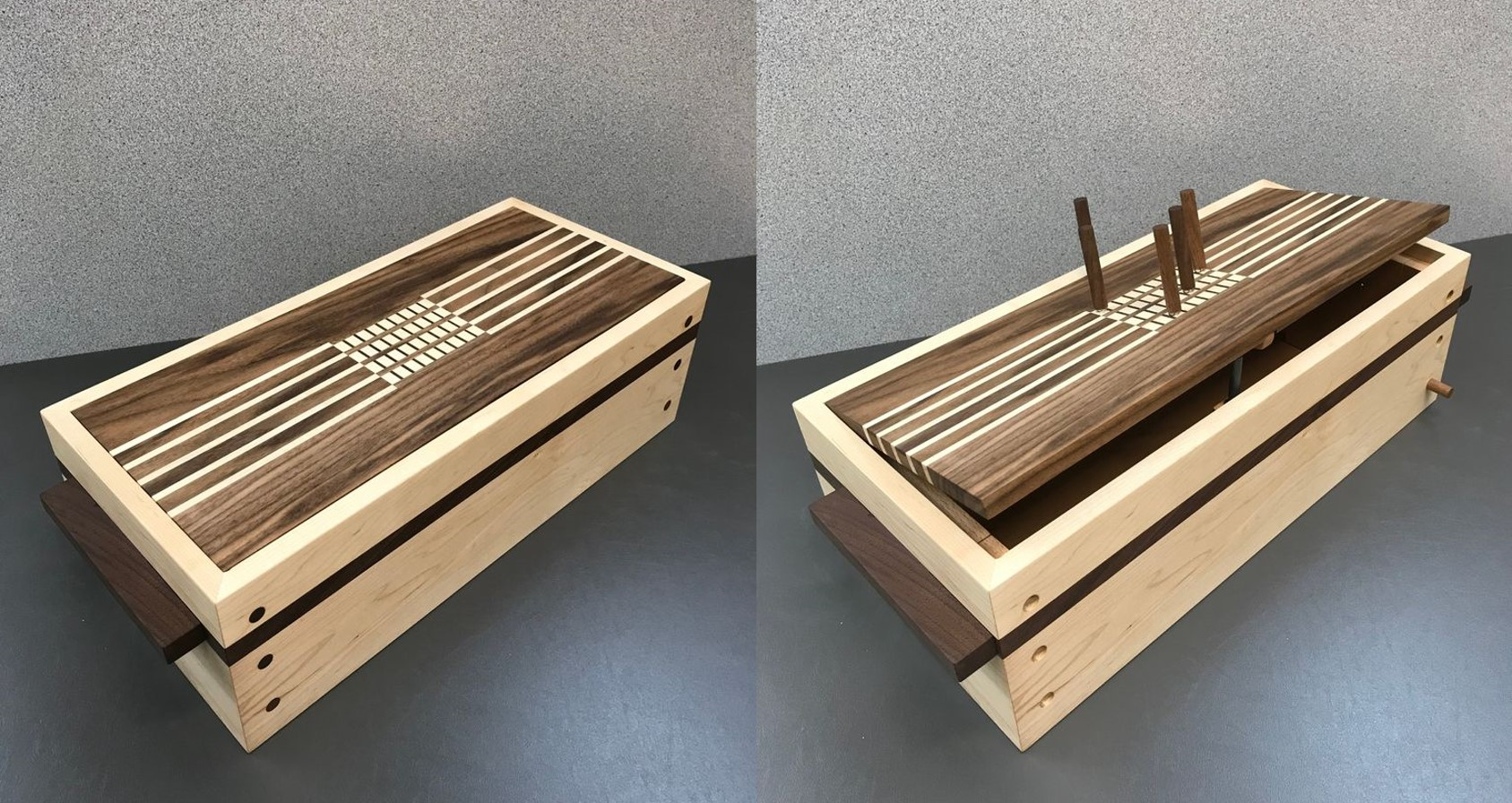 Amazing Wooden Keepsake Box With 4 Digit Combination