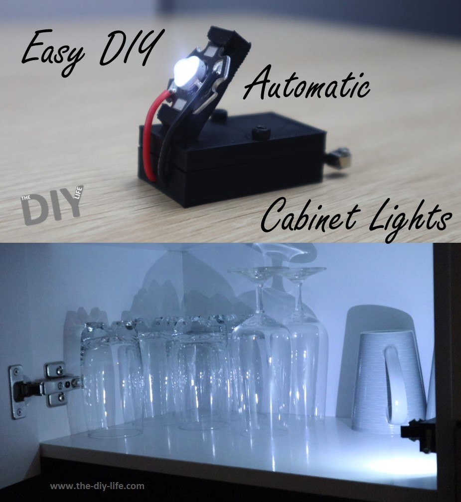 Easy DIY Automatic Cabinet Light - Pinterest