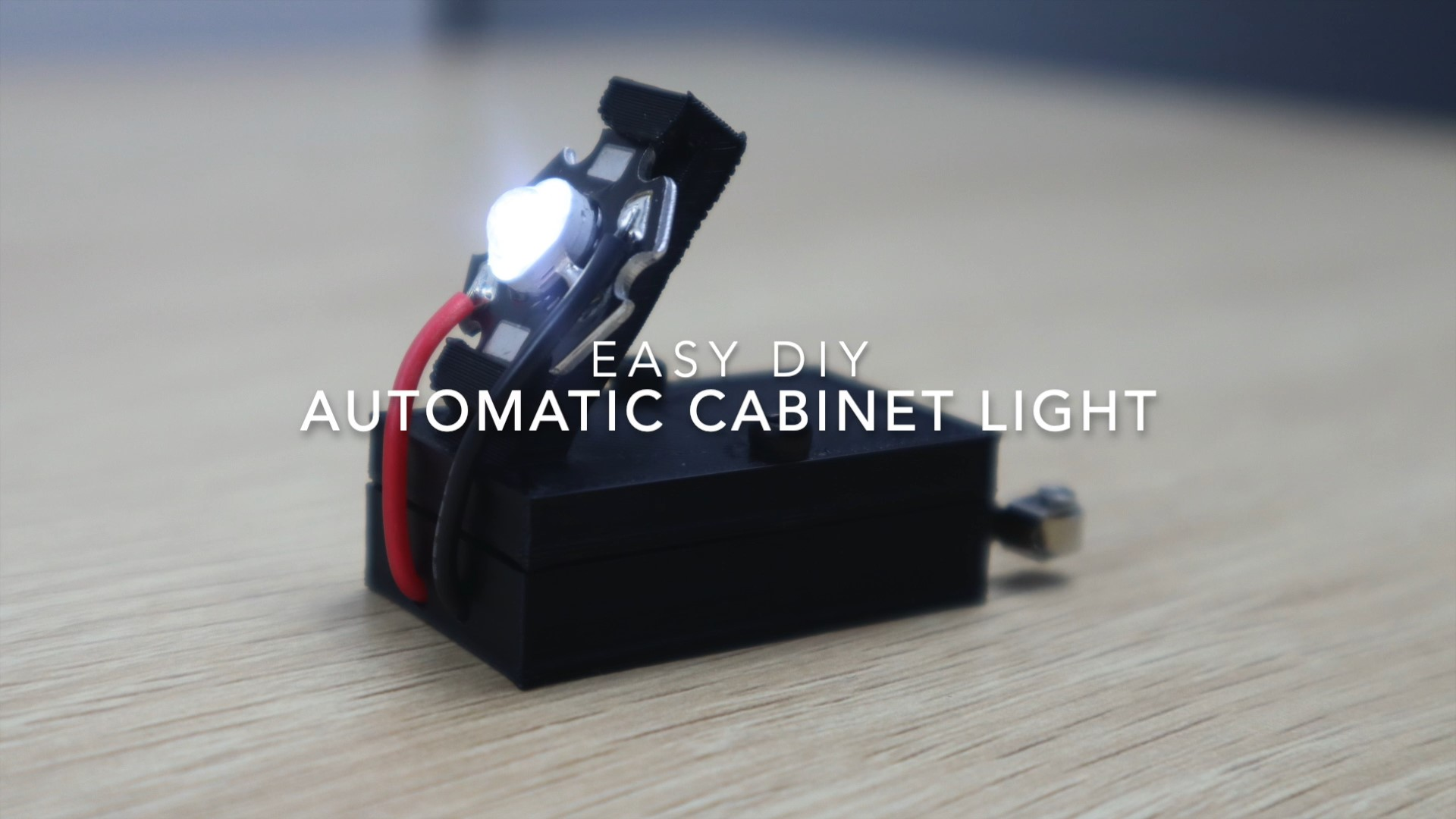 Easy DIY Automatic Cabinet Light