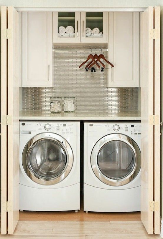 Small Laundry Room Built In Closet