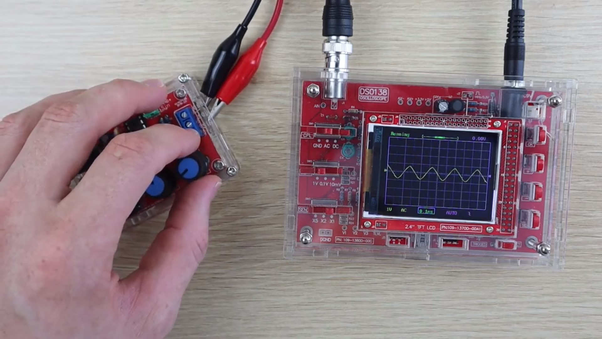 Testing Oscilloscope Input With Function Generator
