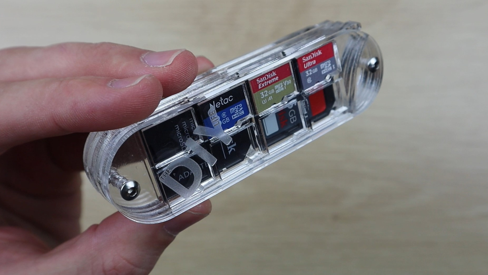 Acrylic SD Card Storage Case Complete