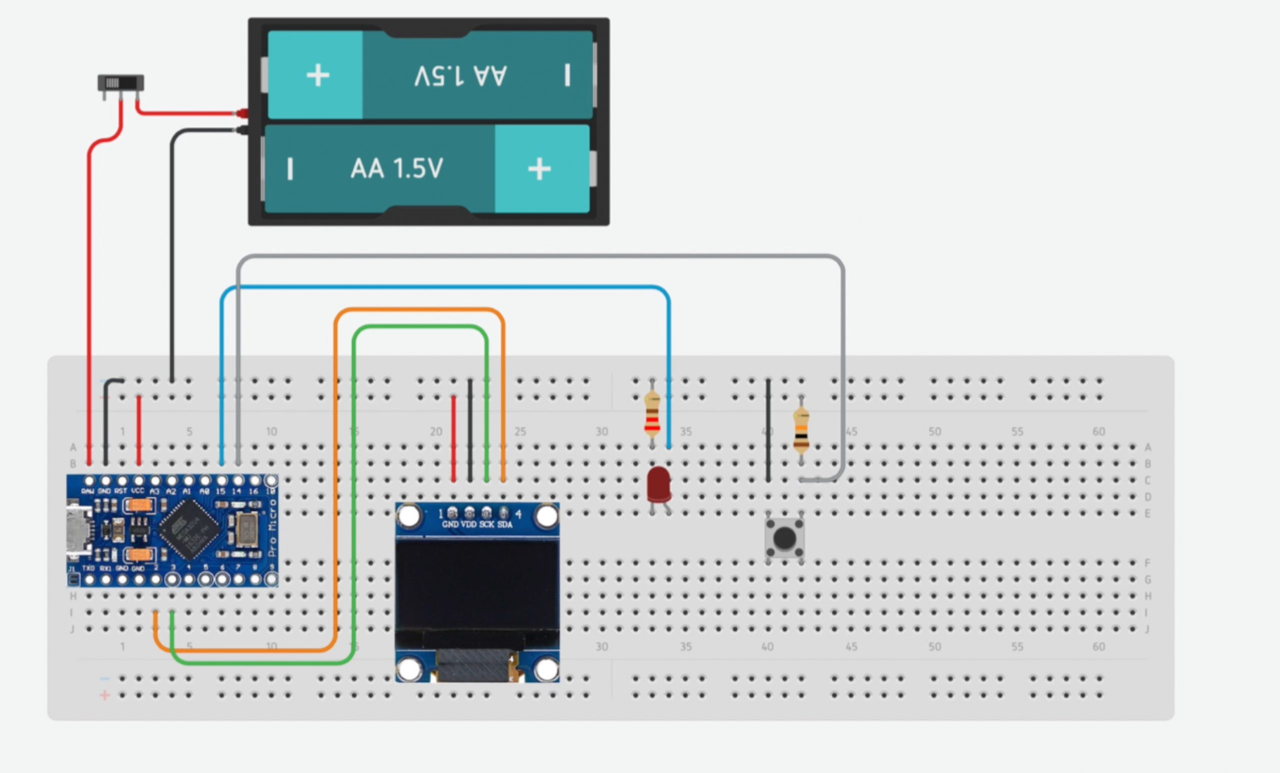 Arduino Reaction Timer Circuit