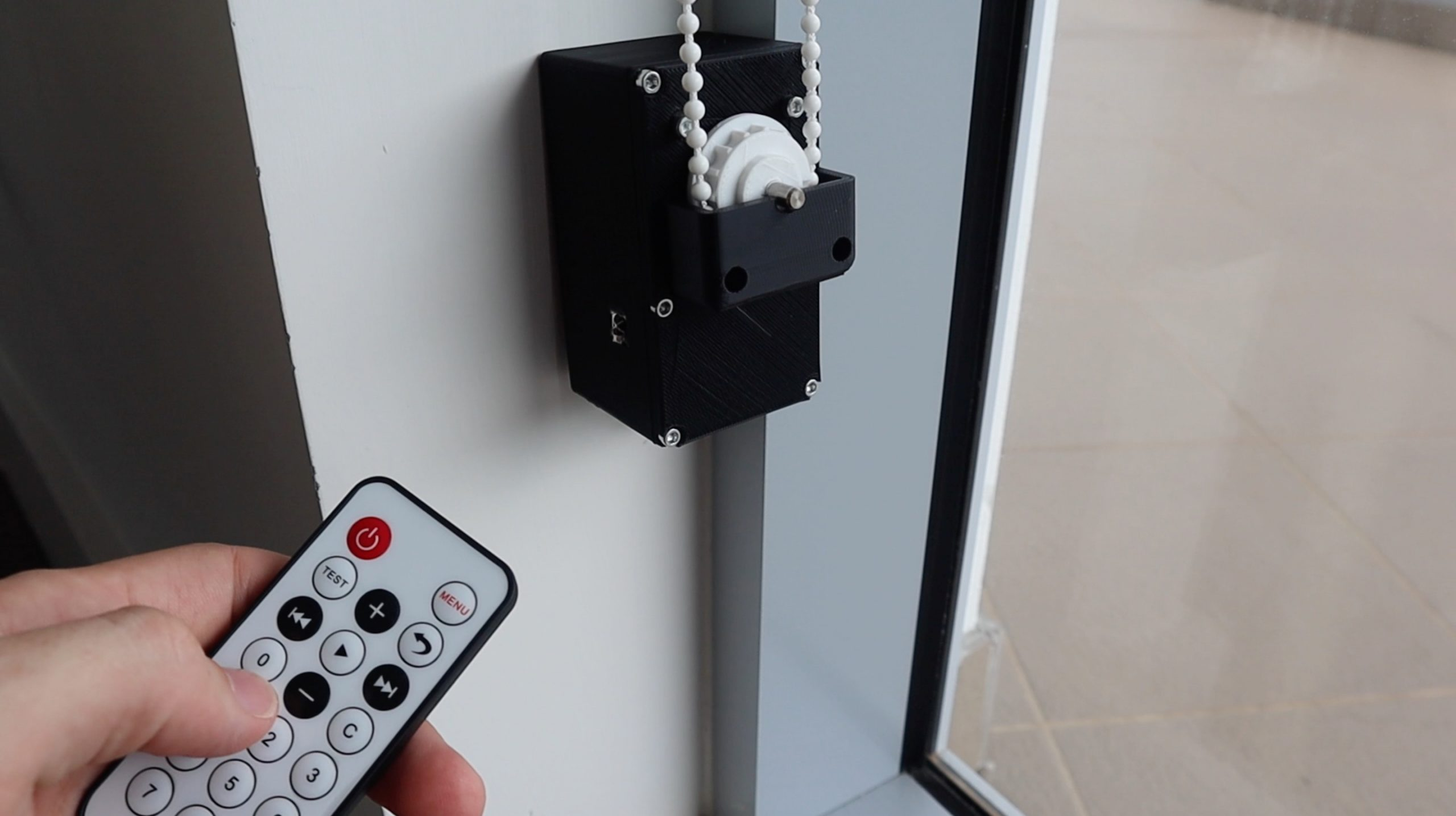 Remote Control for Automatic Blind Opener