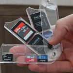 SD Card Storage Case Being Used