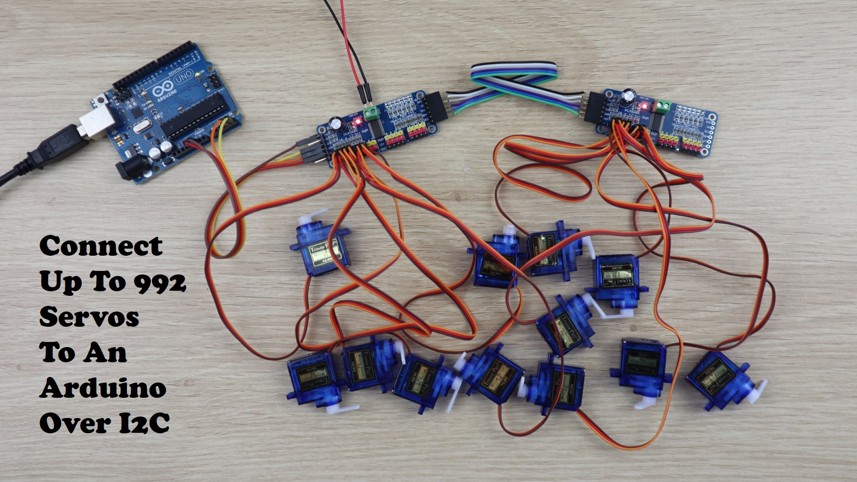 Connect Up To 992 Servos To An Arduino, Using Just 2 Pins